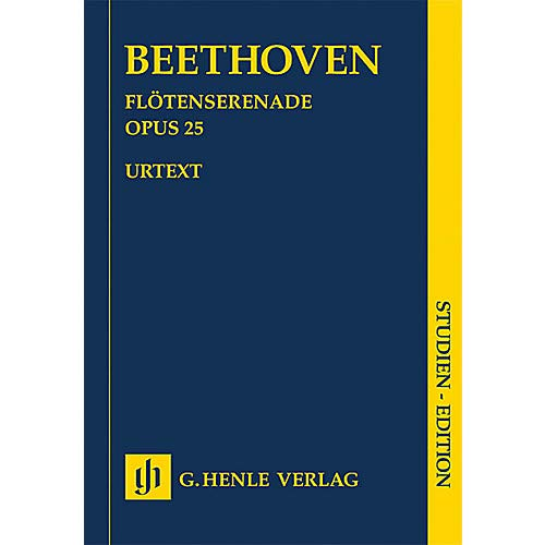 Serenade Flute - Serenade for Flute, Violin and Viola in D Major, Op 25 Henle Music Folios by Ludwig van Beethoven- Pack of 2