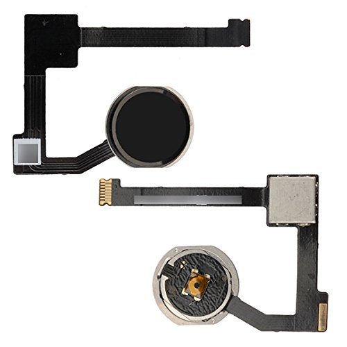 BisLinks for iPad Air 2 Home Button Key + Flex Cable Assembly Black A1566 A1567