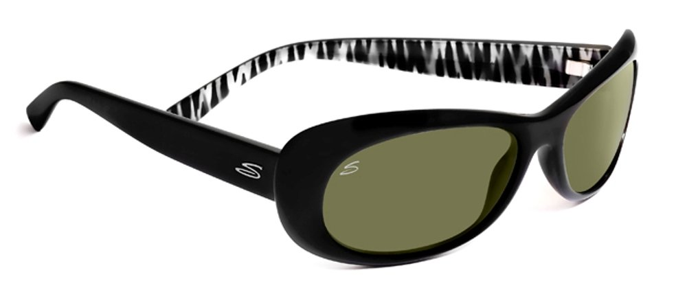 Serengeti Bella Gafas De Sol, lente color 555NM, Negro