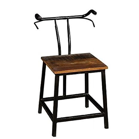 Sedia industrial bicicletta in ferro e legno massello riciclato ...