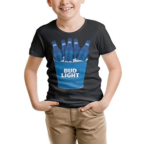 Kids Short-Sleeve Cotton Busch-Light-Beer- Tshirt for 2-10Y -