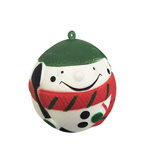 Jumbo Squishies, Christmas Snowman Ball Kawaii Cream Scented Squishies Slow Rising Kids Toys Doll Gift Fun Stress Relief Hop Props Soft Cute Holiday Squishy Toys Pack ()