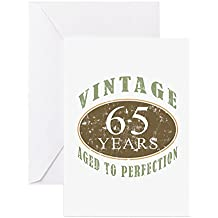 CafePress - Vintage 65Th Birthday - Greeting Card, Note Card, Birthday Card, Blank Inside Matte