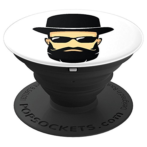 Amish Dude Looking Good With Sunglasses And Black Top Hat - PopSockets Grip and Stand for Phones and Tablets - Amish Pedestal