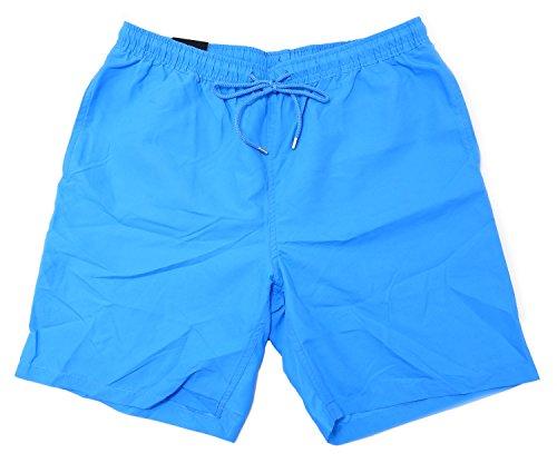 Kirkland Signature Men's Elastic Waistband Mesh Lined Swim Short Trunks (Medium, Swimming Pool - Shorts Men Pool For