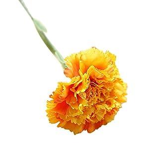 VEFSU Artificial Fake Flowers Carnations Silk Floral Wedding Bouquet Party Home Decor 90