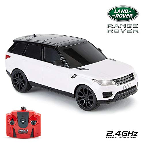 CMJ RC CarsTM Range Rover Sport Official Licensed Remote Control Car 1:24 for Children and Adults Alike with Working LED Lights, Radio Controlled Supercar ()