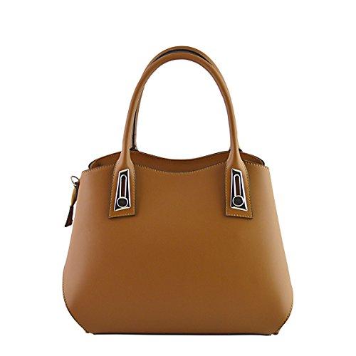 In Fur Woman Throws Real Leather Bag Cognac Artificial Color Handbag Italy 044qayT
