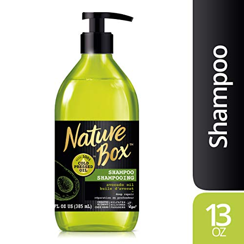 Nature Box Shampoo - for Deep Hair Repair, with 100% Cold Pressed Avocado Oil, 13 Ounce ()