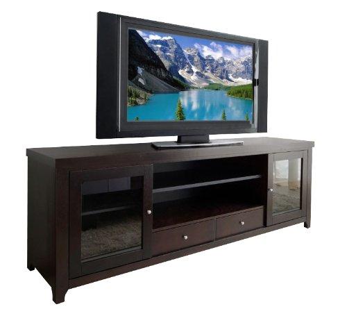 Leather Oak Media Storage (Abbyson Galvani Solid Oak TV Console)