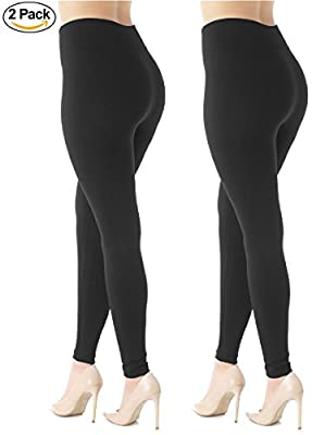 Warm Fleece Lined Leggings - Ultrasoft Premium - High Waisted Slimming - 10 Colors by Conceited