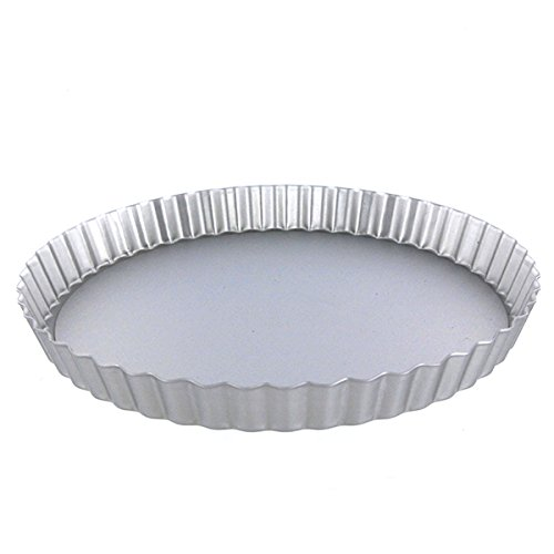 Fat Daddio's Anodized Aluminum Fluted Tart Pan, 10 Inches by 2 Inches
