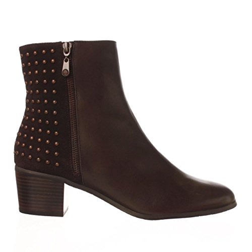 - Tahari Womens Ortley Leather Almond Toe Ankle Fashion Boots, Chocolate, Size 8.0