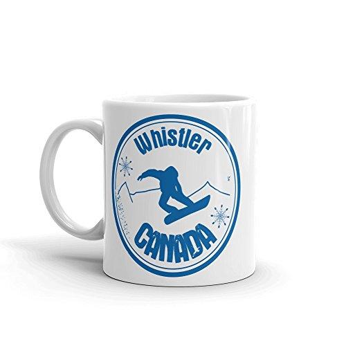 - Whistler Canada Snowboard 10oz Coffee Tea Mug #4711