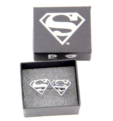 DC Comics Superman Stainless Steel Cufflinks by DC Comics (Image #1)