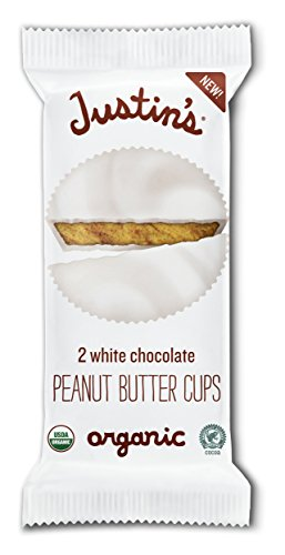Justin's White Chocolate Organic Peanut Butter Cups, 1.4 Ounce (Pack of 12)