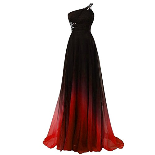 Chiffon Beaded Long Gown - 5