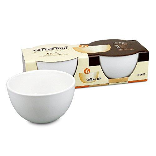 Konitz Coffee Bar Café Au Lait 20-Ounce Bowls, Set of 2, White