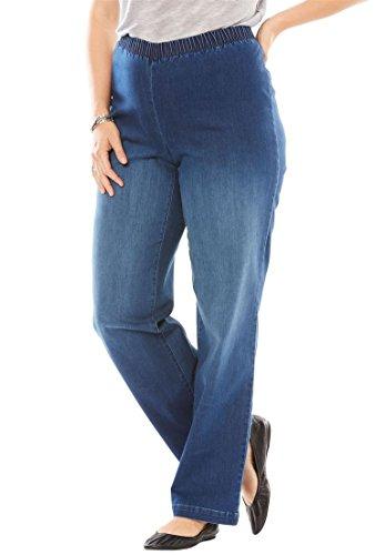 Petite Woven Jeans - 7