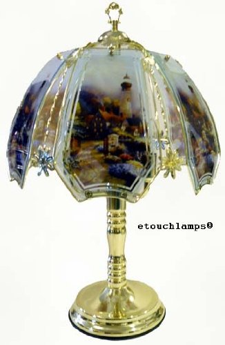 - Lighthouse Touch Lamp 8 with Polished Brass Finish
