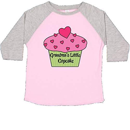 inktastic - Grandmas Little Cupcake Toddler T-Shirt 3T Pink and Heather 482d