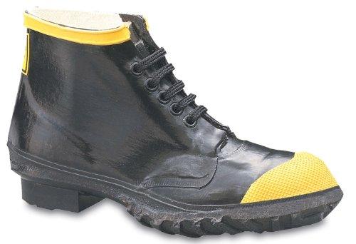 Chaussures De Travail En Acier De Caoutchouc De Ranger 6 Lourds Pour Hommes, Noir Et Jaune (r1141)
