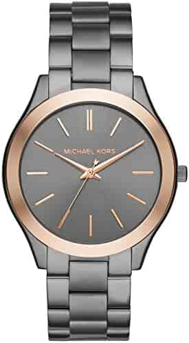 Michael Kors Men's Analog-Quartz Watch with Stainless-Steel Strap, Grey, 22 (Model: MK8576