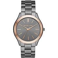 Michael Kors Watches Slim Runway three-hand Reloj, talla única , gris