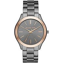 Michael Kors Men's Analog-Quartz Watch with Stainless-Steel Strap, Grey, 22 (Model: MK8576