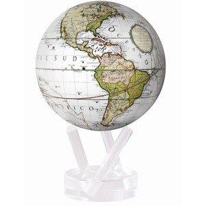 (Antique Terrestrial White MOVA Globe 4.5