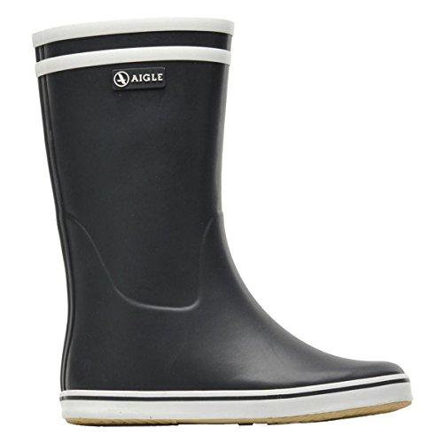 Aigle Rain Boots (Aigle Womens Malouine Black Rubber Boots EU 38)