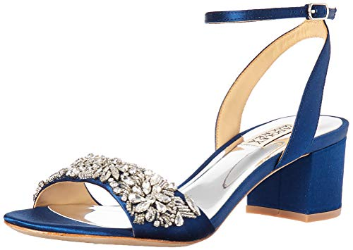 Badgley Mischka Women's Ivanna Heeled Sandal, Navy, 8.5 M US from Badgley Mischka