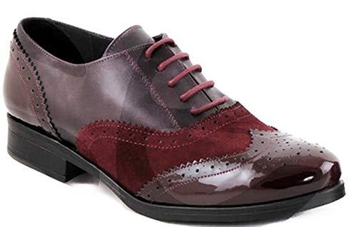 Abril Estil España piel Burdeos piel En piel forro Zapatos plantilla 3cm fabricado 8400 tacón Corte d5xORfq