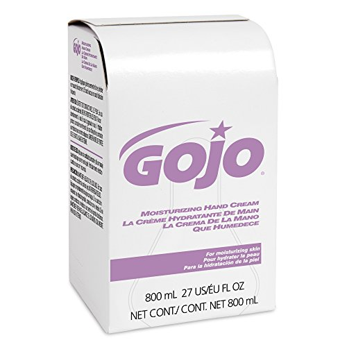 GOJO 800 Series Moisturizing Hand Cream, 800 mL Crème Refill for GOJO 800 Series Bag-in-Box Push-Style Dispenser (Pack of 12) - ()