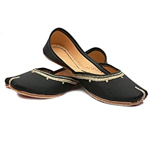 ANUPAMAA Leather Punjabi Ethnic Jutti for Women & Girl