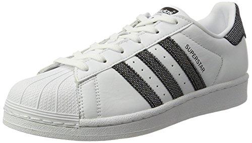 adidas Cblack Damen W Weiß Silber Cblack Superstar Sneaker Ftwwht rrUqd8w