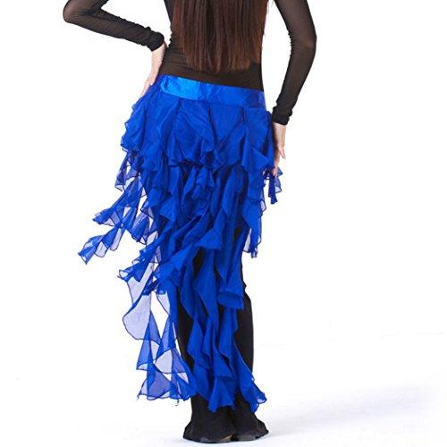 Chain Fringe - Pilot-trade Lady's Belly Dance Hip Scarf Belt Skirt Latin Dance Tassel Wave skirt (One size, Navy Blue)