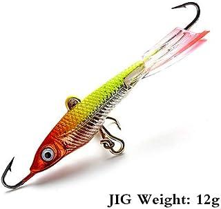 HATCHMATIC FTK Pêche Lure 1pc Pêche d'hiver Lure 12G / 7.1cm Dur Lure 10# Treble pour la Carpe Lure pêche FTBD004 Pesca: 031