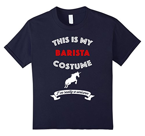 Plus Size Barista Costumes (Kids This Is My Barista Costume I'm Really Unicorn T-Shirt 12 Navy)