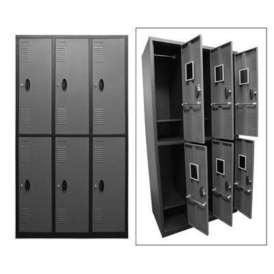 Homak Manufacturing GS00700600 6 Door Steel Locker
