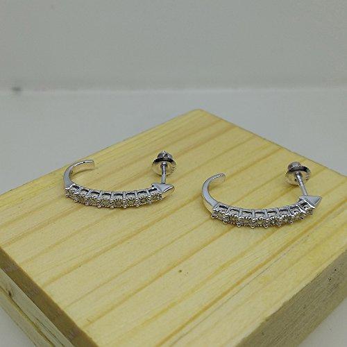 015-Carat-ctw-Sterling-Silver-Round-Diamond-Ladies-Hoop-Earrings