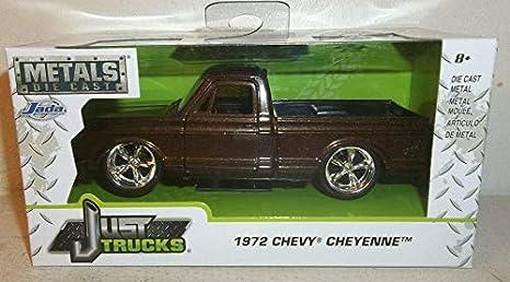 Just Chevy Trucks >> Amazon Com Just Trucks 1972 Chevy Cheyenne Metallic Brown 1