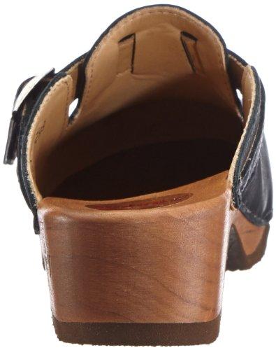 Woody MANU - Zuecos de cuero mujer negro - Schwarz (Antico nero)