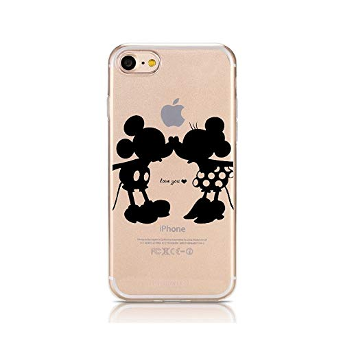 Twinlight Cartoon Silicone Phone Case for iPhone 7 8 Plus XS MAX XR Cute Soft Mickey Minnie Cover for iPhone X Coque Fundas (ver 11, for iPhone X) (Iphone 4s Mickey Mouse Case)
