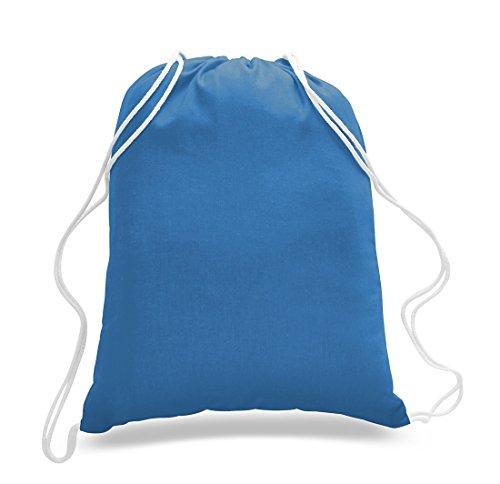 1 Dozen - Durable Cotton Drawstring Tote Bags