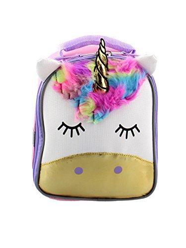 Unicorn Girls Soft Lunch Box (White/Pink)