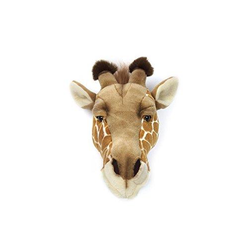 Wild & Soft Giraffe Shaped Trophy Head - Ruby, 13.39 '' Height x 7.48 '' Width x 11.02 '' Depth, Handmade Stuffed Plush Toy as a Wall Decoration in Children Rooms