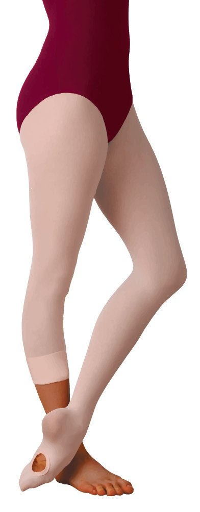 Body Wrappers Angelo Luzio Adult Womens Total Stretch Convertible Tights-Dark Nude-sm/md by Body Wrappers