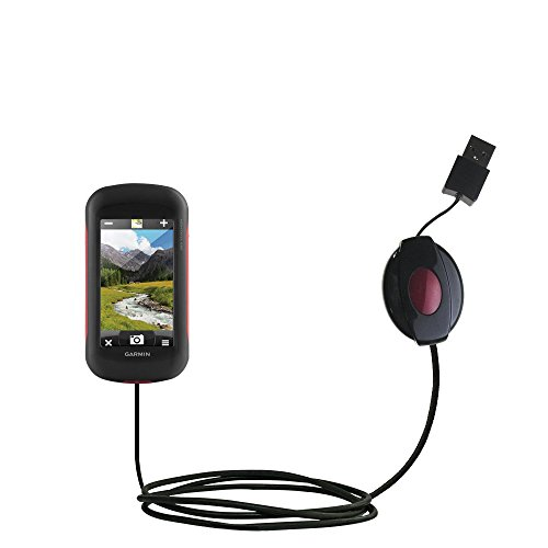 USB Power Port Ready retractable USB charge USB cable wired specifically for the Garmin Montana 680 / 680t and uses ()