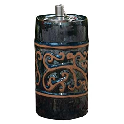 Smart Garden 215040-09BM Etruscan Ceramic Garden Torch, 9-Inch Tall, Blue Midnight, Outdoor Accent Piece Is Perfect For Lining Walkways Or Using As Center Piece On Tables